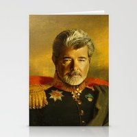 replaceface Stationery Cards featuring George Lucas - replaceface by replaceface