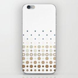 Dot Escalation // Taupe + Blues iPhone Skin