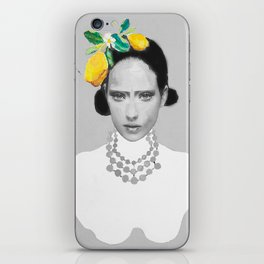 Dame with the lemons  iPhone Skin