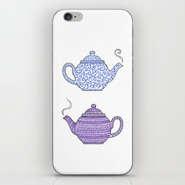 Patterned Teapots iPhone Skin