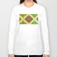 arab Long Sleeve T-shirts featuring arab stained glass by tony tudor