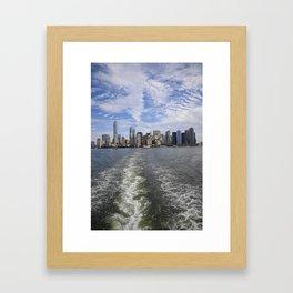 Sandwiched NYC Skyline Framed Art Print