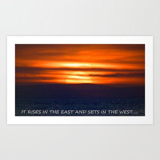 the setting of the sun. Art Print