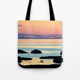 Circle of Rocks and the Sea at Dusk Tote Bag