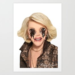 JOAN RIVERS VISITS A PLASTIC SURGEON IN HELL Art Print