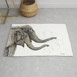 Couple of elephants Rug