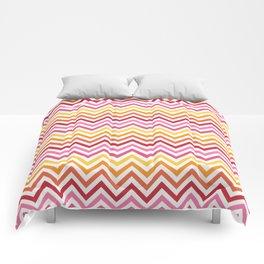 Rainbow Chevron #1 Comforters