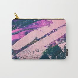 Wonder. - A vibrant minimal abstract piece in jewel tones by Alyssa Hamilton Art Carry-All Pouch