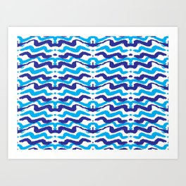 Abstract Modern Pattern Art Prints Art Print