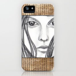 Reading a book iPhone Case