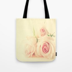 Peachy Roses  Tote Bag