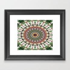 Lovely healing Mandala in brilliant colors Framed Art Print