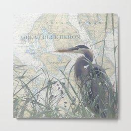 Shaw/Orcas Island Heron Metal Print