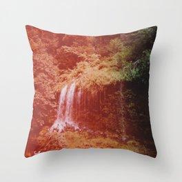 Secret Waterfall III Throw Pillow