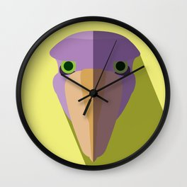 Purple Shoebill Stork Icon Wall Clock