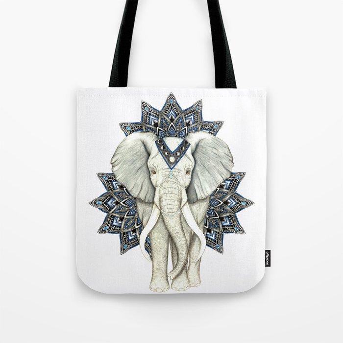 Zen Elephant Mandala Tote Bag