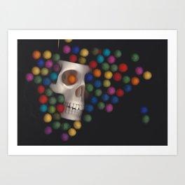 Skull and felt 2 Art Print