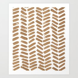 Gold Chevron Art Print