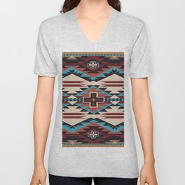 American Native Pattern No. 67 Unisex V-Neck