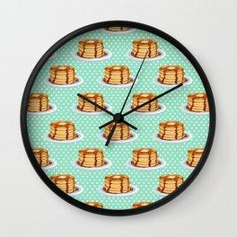 Pancakes & Dots Pattern Wall Clock