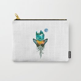 Surreal Paradise Floral Print Carry-All Pouch
