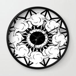 En blanco y negro Wall Clock