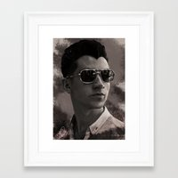 alex turner Framed Art Prints featuring Alex Turner by Tune In Apparel