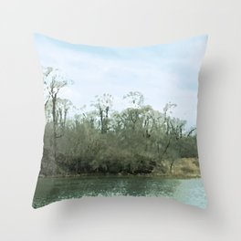 Lake Scene Throw Pillow