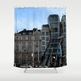 The Dancing House in Prague by Frank Grehry Shower Curtain