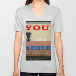 You Are Here Unisex V-Neck