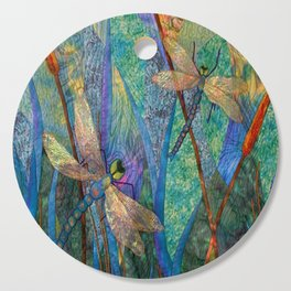 Colorful Dragonflies Cutting Board