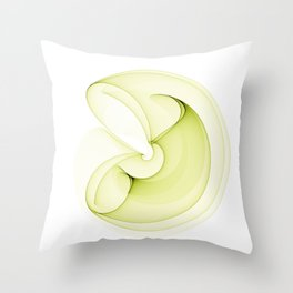 Abstract green element Throw Pillow