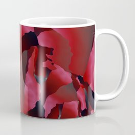 Red frayed abstraction Coffee Mug
