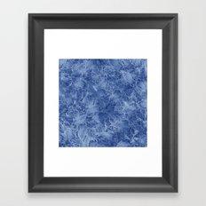Frozen Leaves 14 Framed Art Print