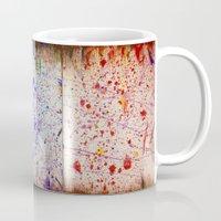 human Mugs featuring Human by a vitruvian man