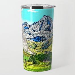 """Austria - drawing """"Großglockner"""" Travel Mug"""