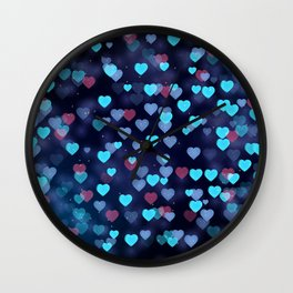 Valentine Hearts Wall Clock