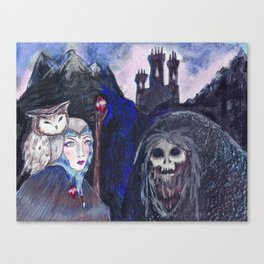 Encounter at Doom Mountain Canvas Print