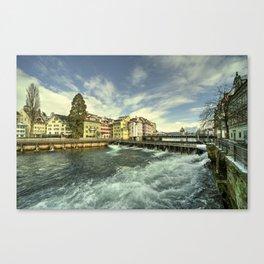Weir of Lucerne Canvas Print