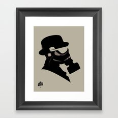 Storm Trooper Gas Mask  Framed Art Print