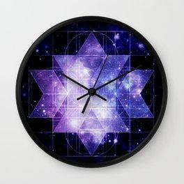 galaxy sacred Geometry Wall Clock