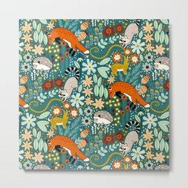 Woodland Pattern Metal Print