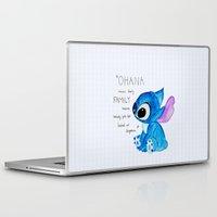 ohana Laptop & iPad Skins featuring Ohana by nafrodrigues