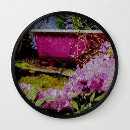 Pink Bathtub Wall Clock
