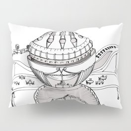 Fantastic house is inspired by the flower Pillow Sham