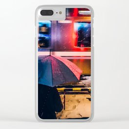 Snowy night in Tokyo, japan Clear iPhone Case