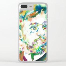 HENRI DE TOULOUSE-LAUTREC - watercolor portrait Clear iPhone Case