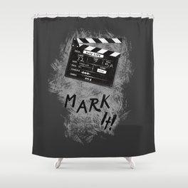 Clapperboard Shower Curtain