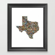 Map of Texas Framed Art Print