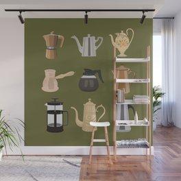 Coffee Pots Wall Mural